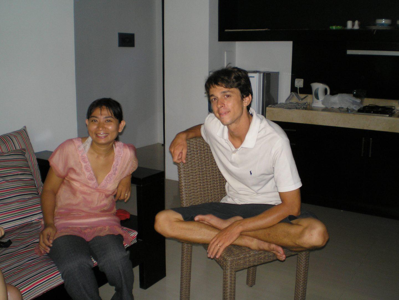 Avec Elie et ita Sanur Bali