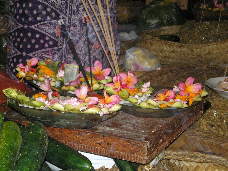 Offrandes Ubud Bali