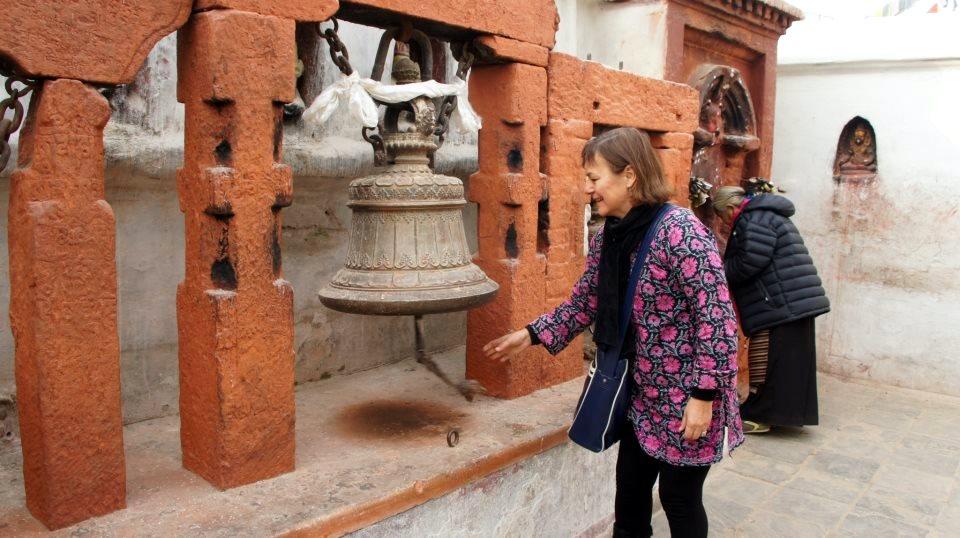 Arrivée sur stupa Kathmandou Nepal