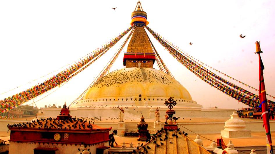 Dôme stupa Bodnath Kathmandou Népal