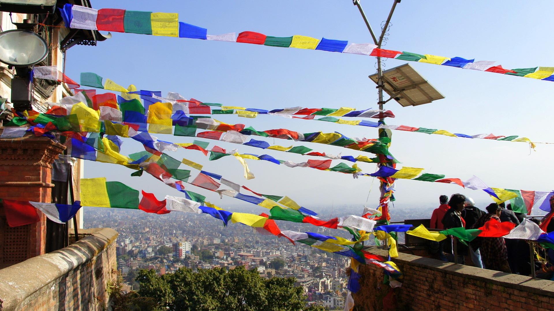 Drapeaux prière Swayambhunath Népal