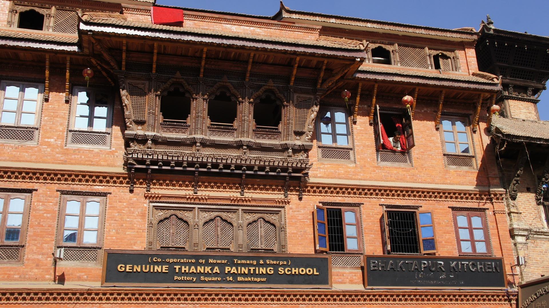 Ecole de peinture de tankas Bhaktapur Nepal
