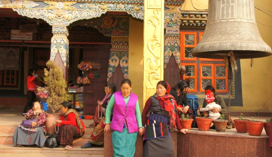 Femmes tibétaines Stupa Bodnath Kathmandou Népal