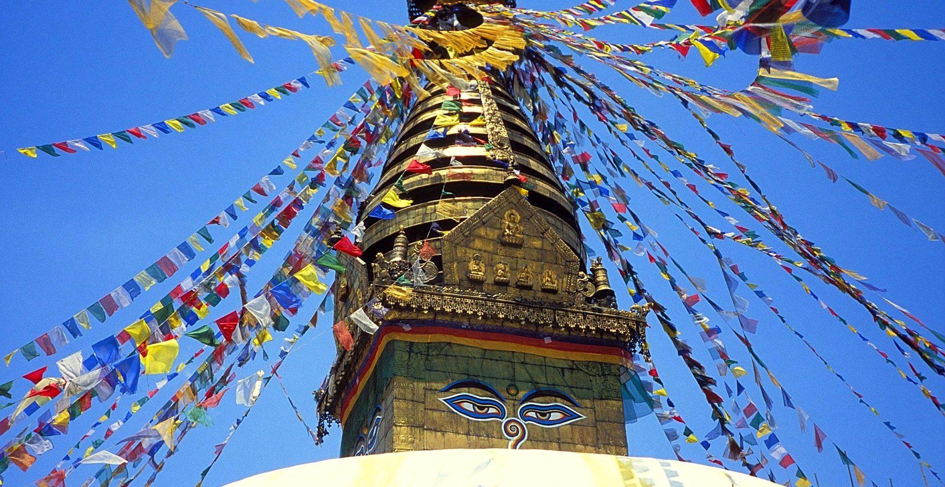 Les yeux du stupa Swayambhunath Kathmandou Nepal