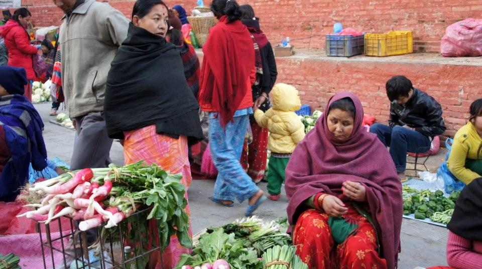 Petit marché centre Kathmandou Nepal
