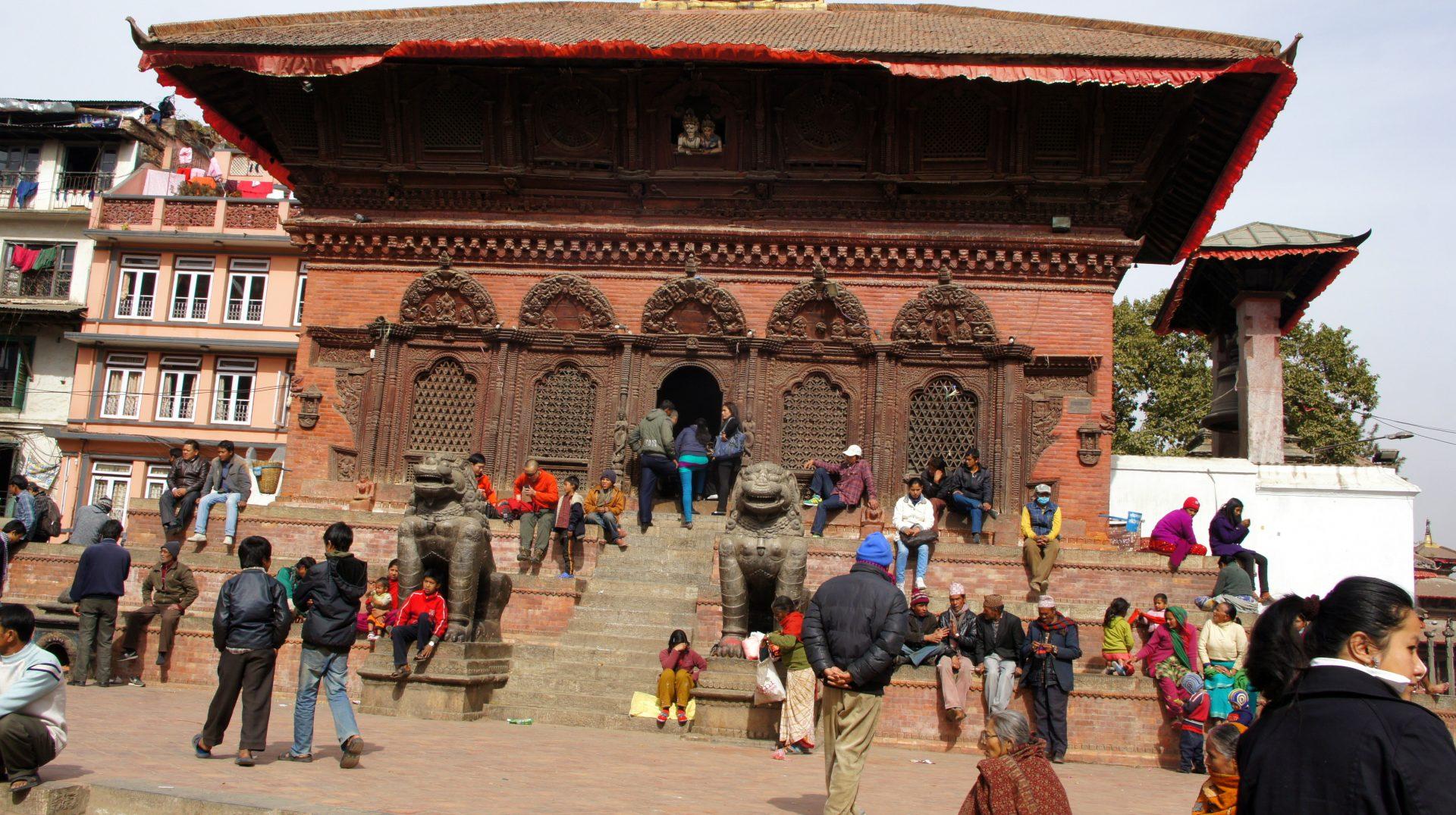 Place Durbar Square Kathmandou Congé solidaire Planète Urgence Népal