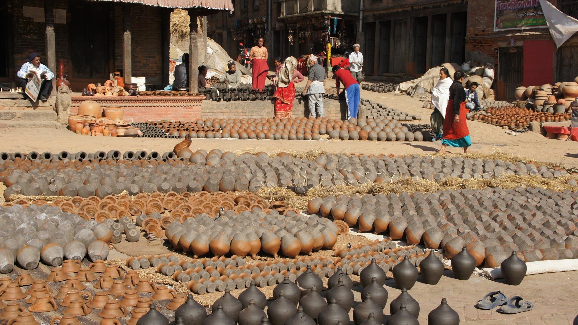 Place des potiers Bhaktapur Nepal