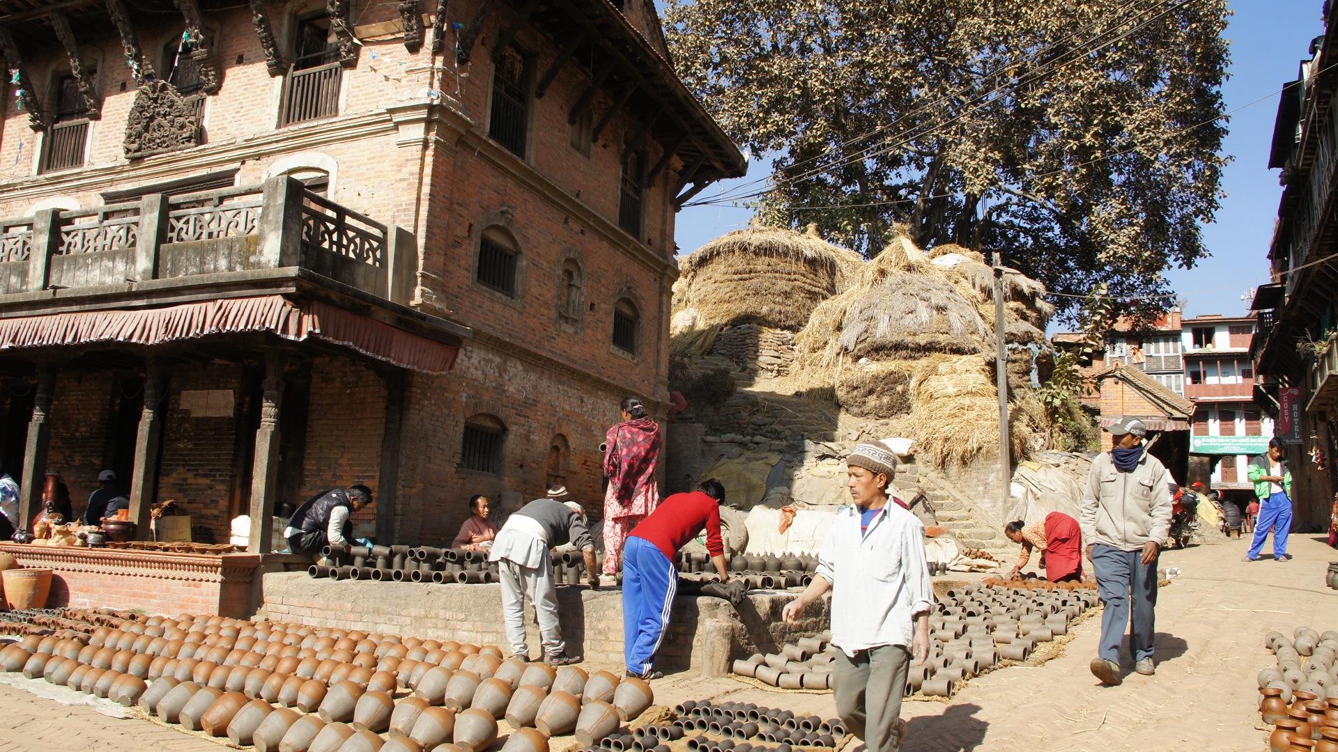 Quartier des potiers Bhaktapur Nepal