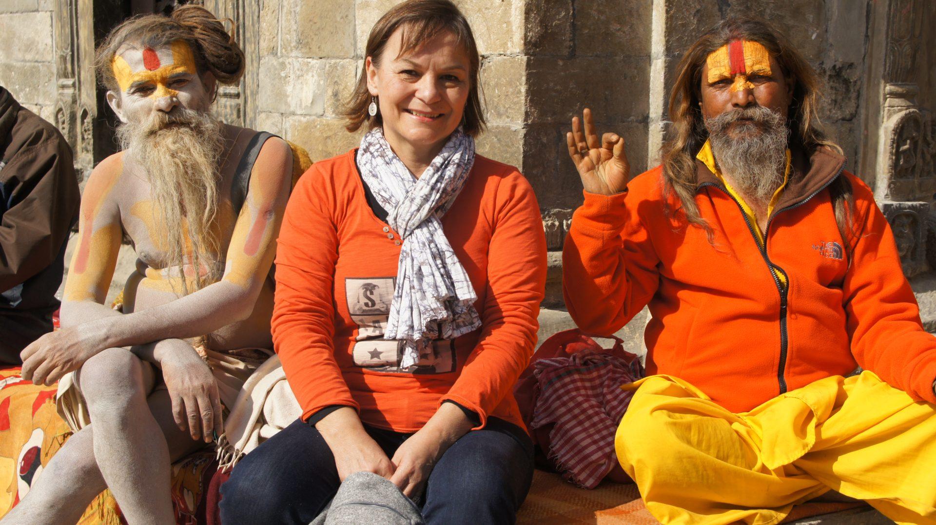 Rencontre avec ls sadhus Kathmandou Népal