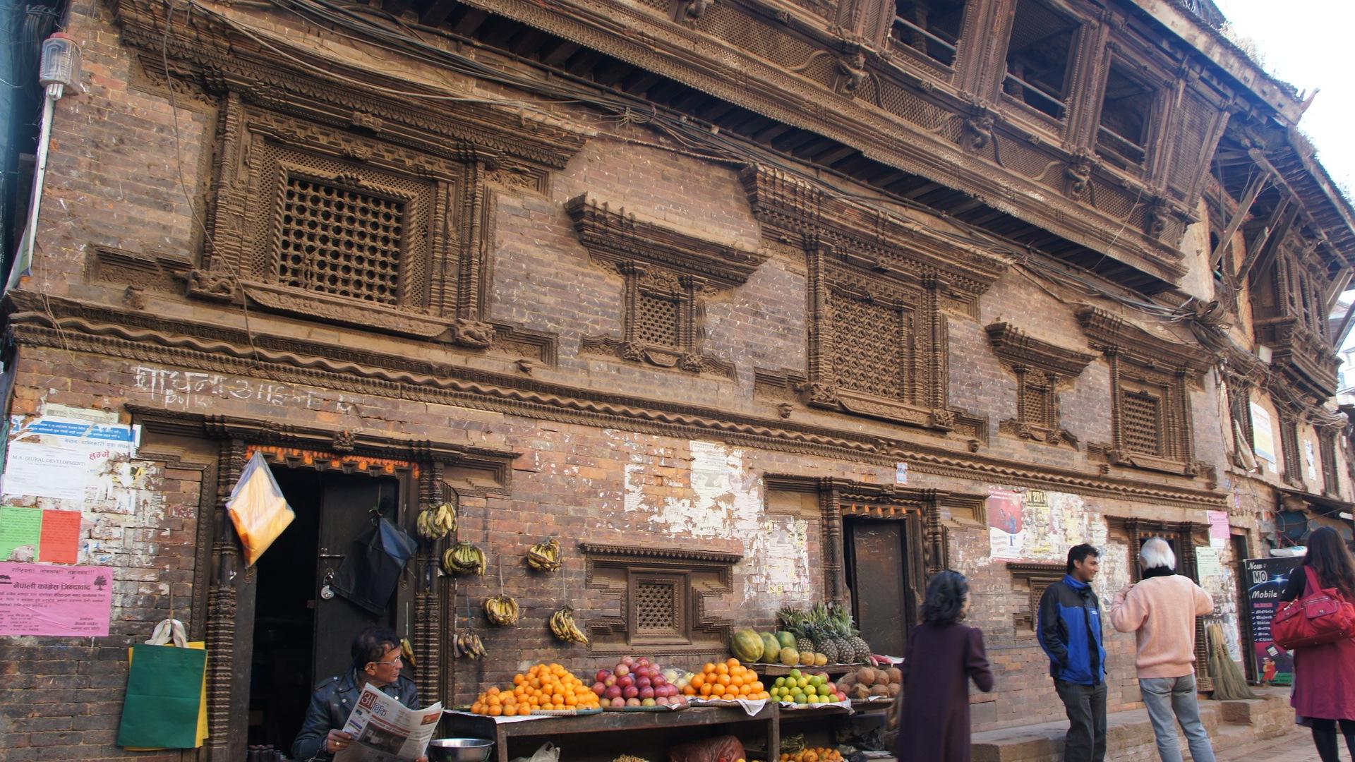 Rue de Bhaktapur Nepal