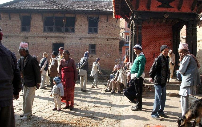 Scène de rue Khokana Nepal