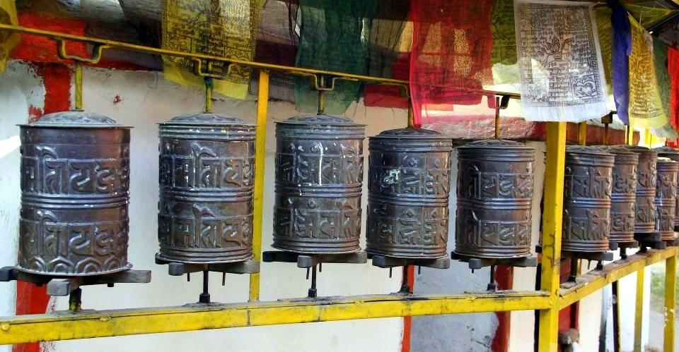 Tambours à prière Kathmandou Népal