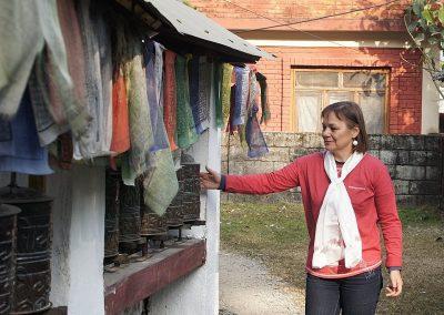 Moulins à prière Népal