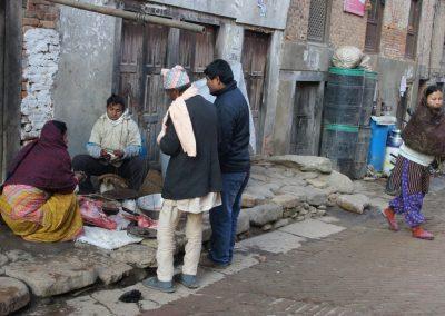Vente de viande Kokhana Népal