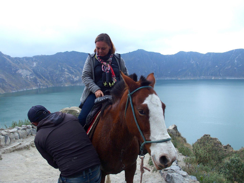 Lagune de Quilotoa à cheval Equateur