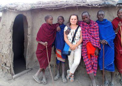 Avec les hommes Masaï Tanzanie