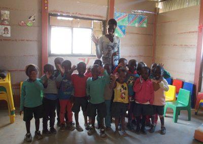 Coucou les enfants école HISA Namibie