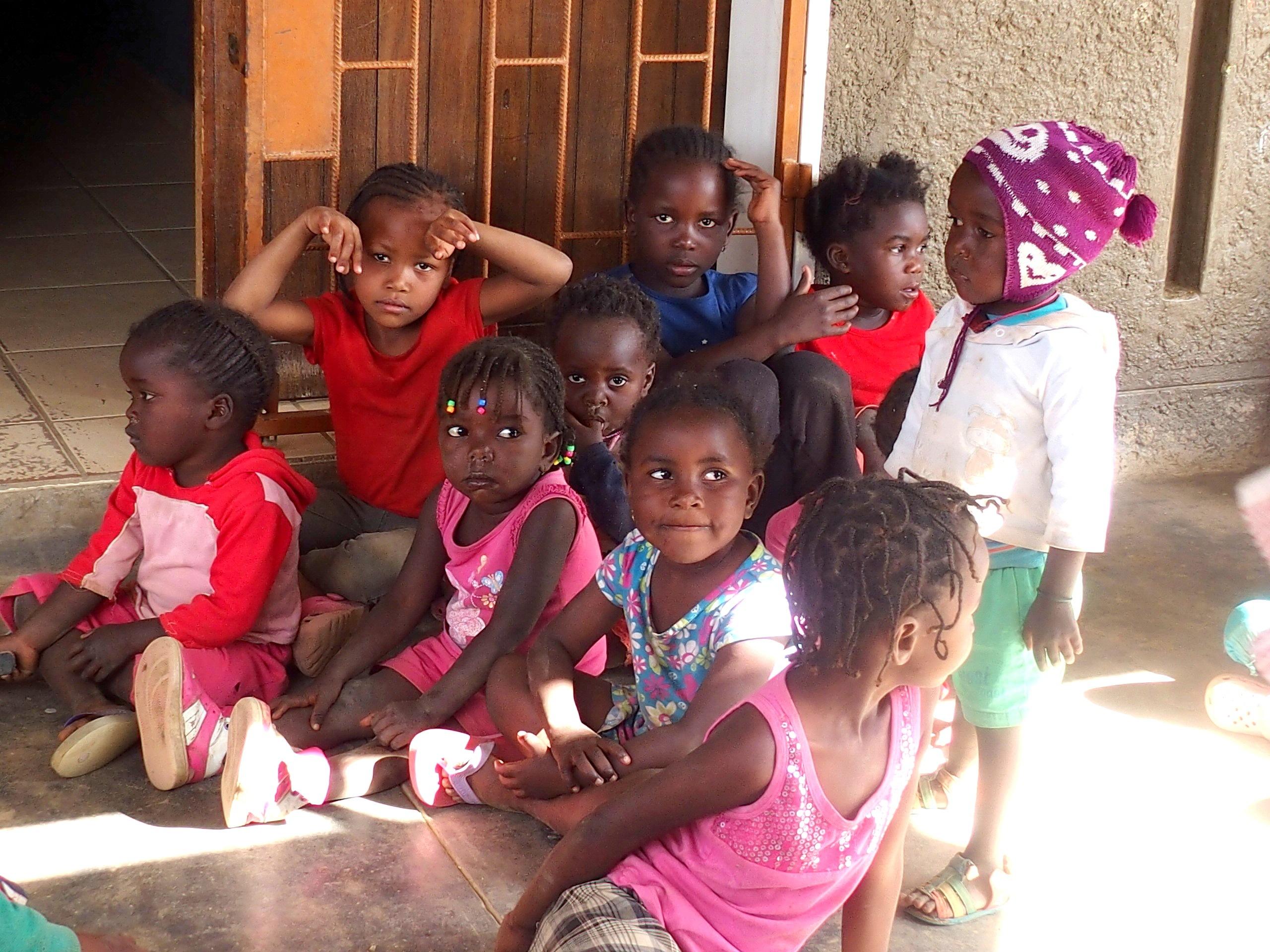 Fillettes de l'école Katutura Namibie.