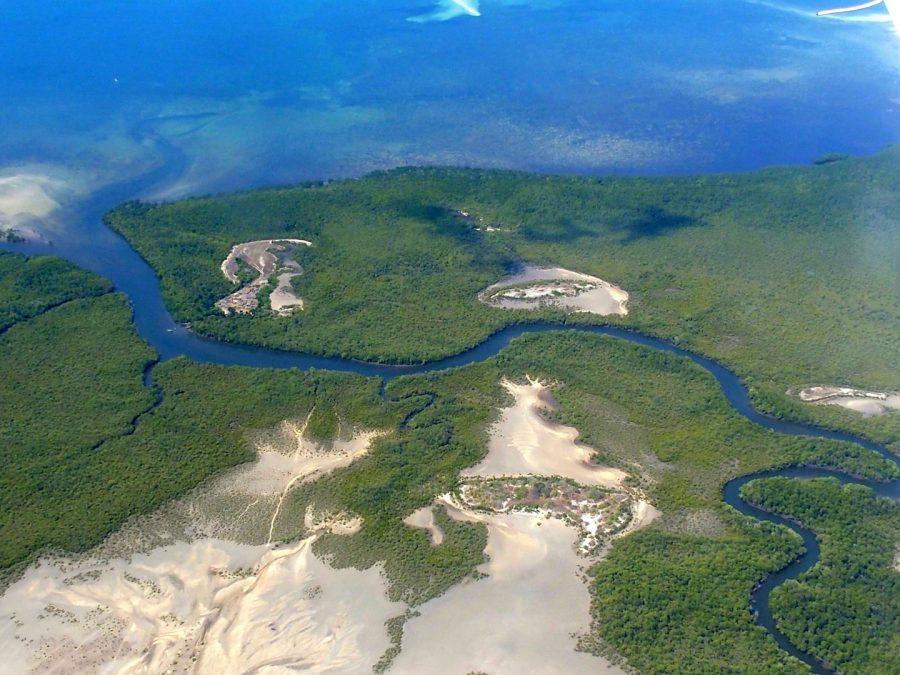 Côte et mangroves île Ibo Mozambique