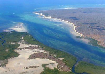 Survol côte Ibo - Mozambique