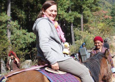 A cheval au Bhoutan