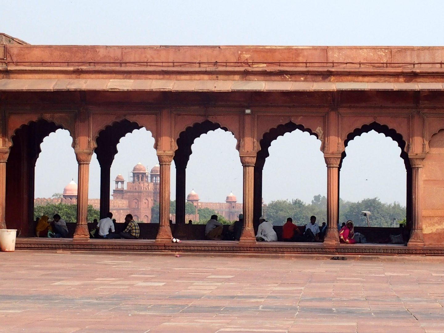 Arches tombeau Humayun New Delhi Inde