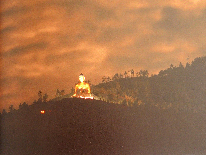 Bouddha by night Bhoutan