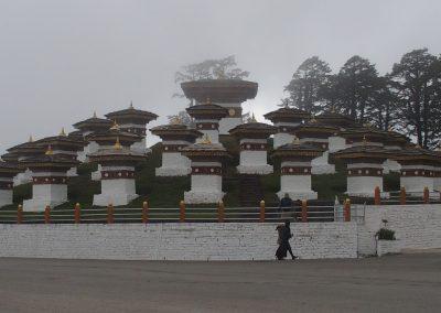 Dans le brouillard Bhoutan