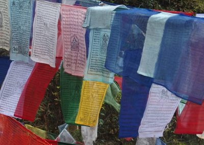 Drapeaux prière Bhoutan