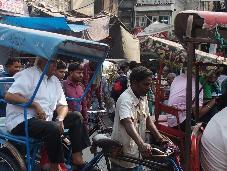 Embouteillage monstre Old Delhi Inde