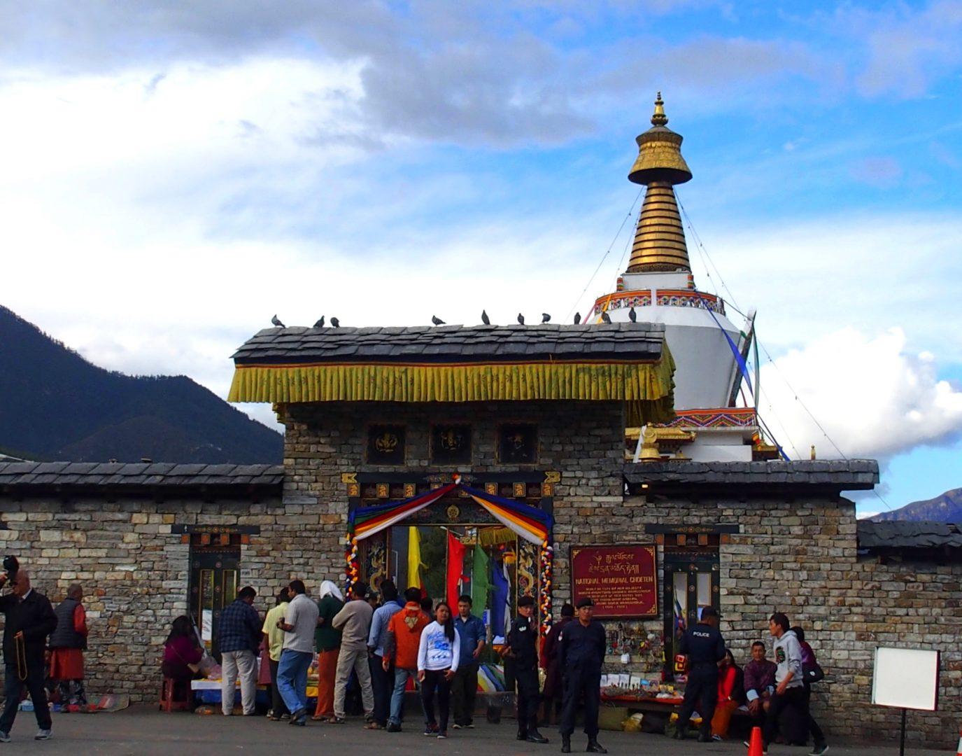 Entrée chorten Timphu 11 jours de voyage au Bhoutan