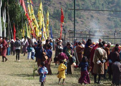 Fête populaire au Bhoutan