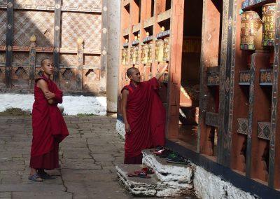 Jeunes moines du Bhoutan