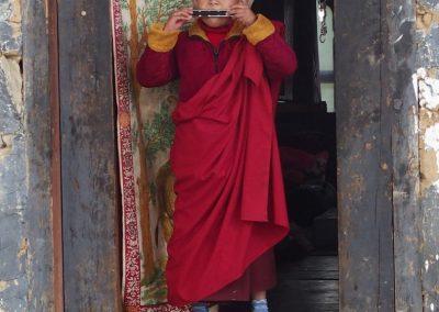 Moine à l'harmonica Bhoutan