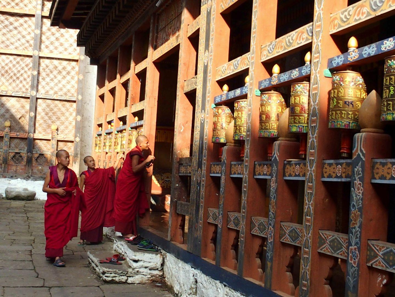 Moines Dzong Trongsa Bhoutan