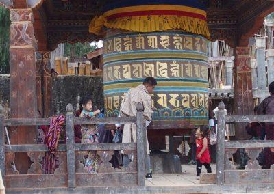 Moulin à prière Bhoutan