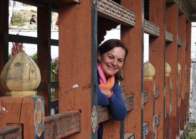 Passerelle au Bhoutan
