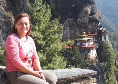Pause devant le Tiger Nest Bhoutan
