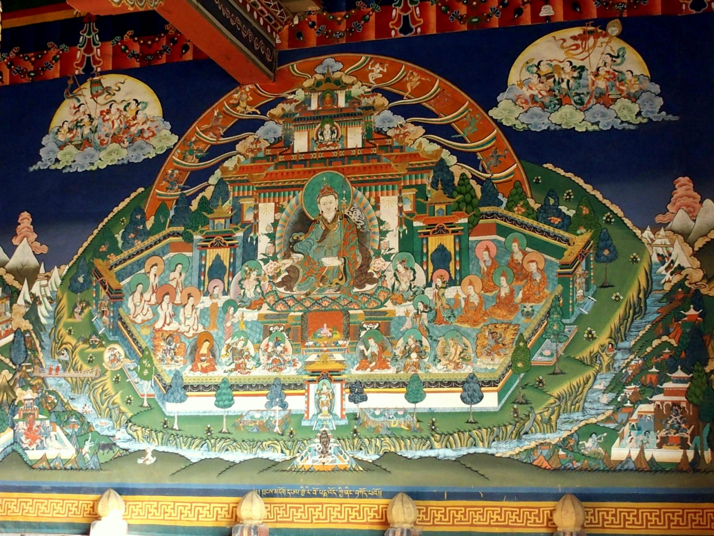 Peinture dzong Punakha 11 jours au Bhoutan