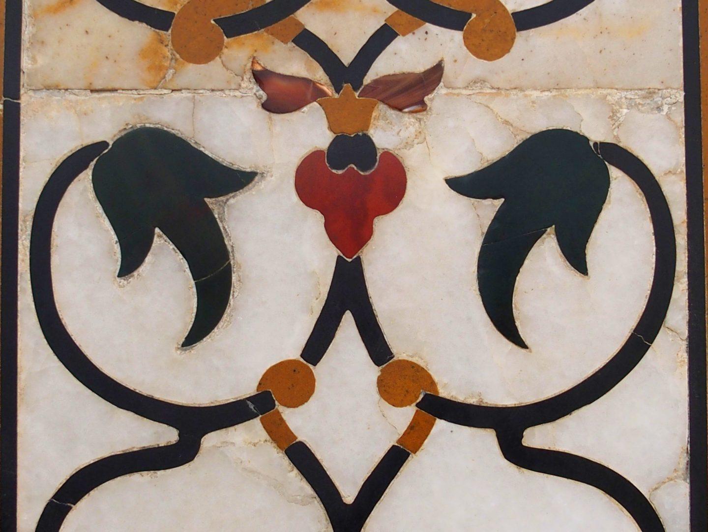 Peinture sur marbre Taj Mahal Inde