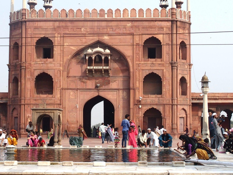 Plan d'eau Fort rouge Agra Inde