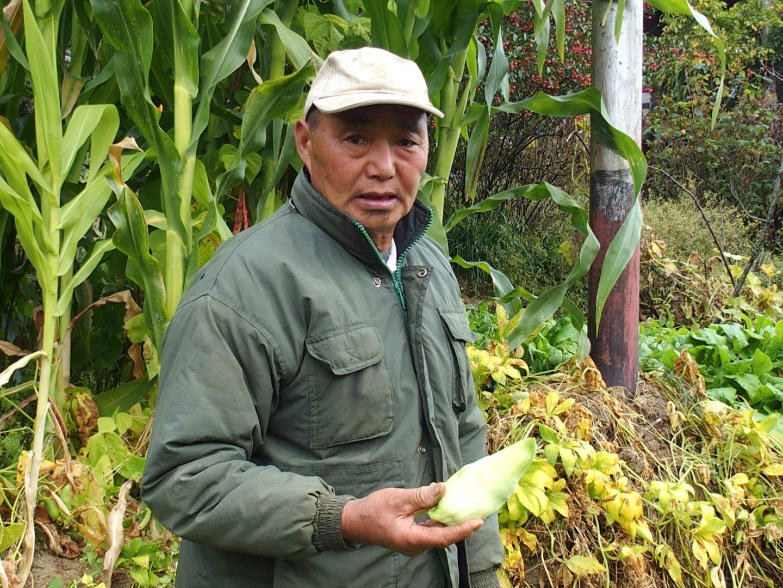 Producteur légumes Bumthang Bhoutan