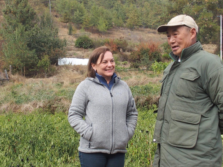 Rencontre avec un agriculteur Bhoutan