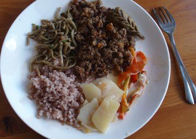 Repas typique Bhoutan