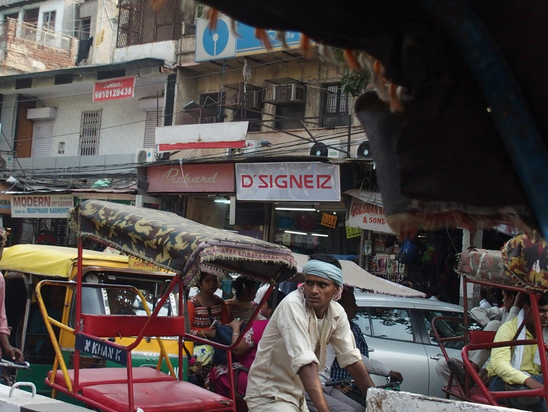 Scène de rue Old Delhi Inde