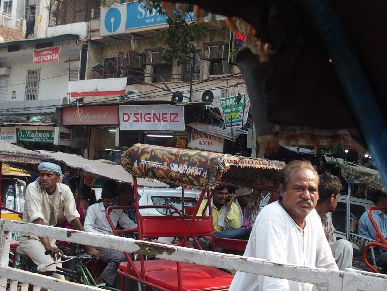 Vie des habitants à Old Delhi Inde