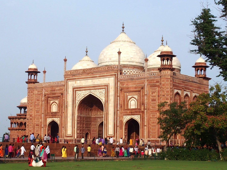 Entrée principale du site Taj Mahal Inde