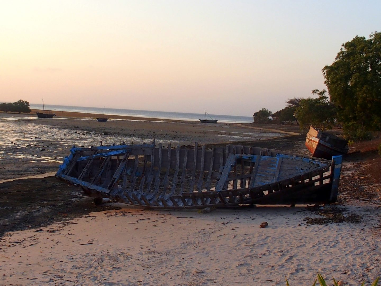 Epave sur île d'Ibo Mozambique