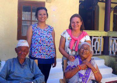 Avec mon amie Karishma et ses grands-parents