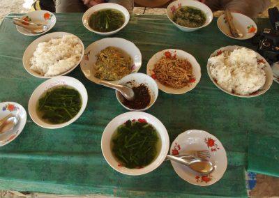 Déjeuner au marché nord-Laos